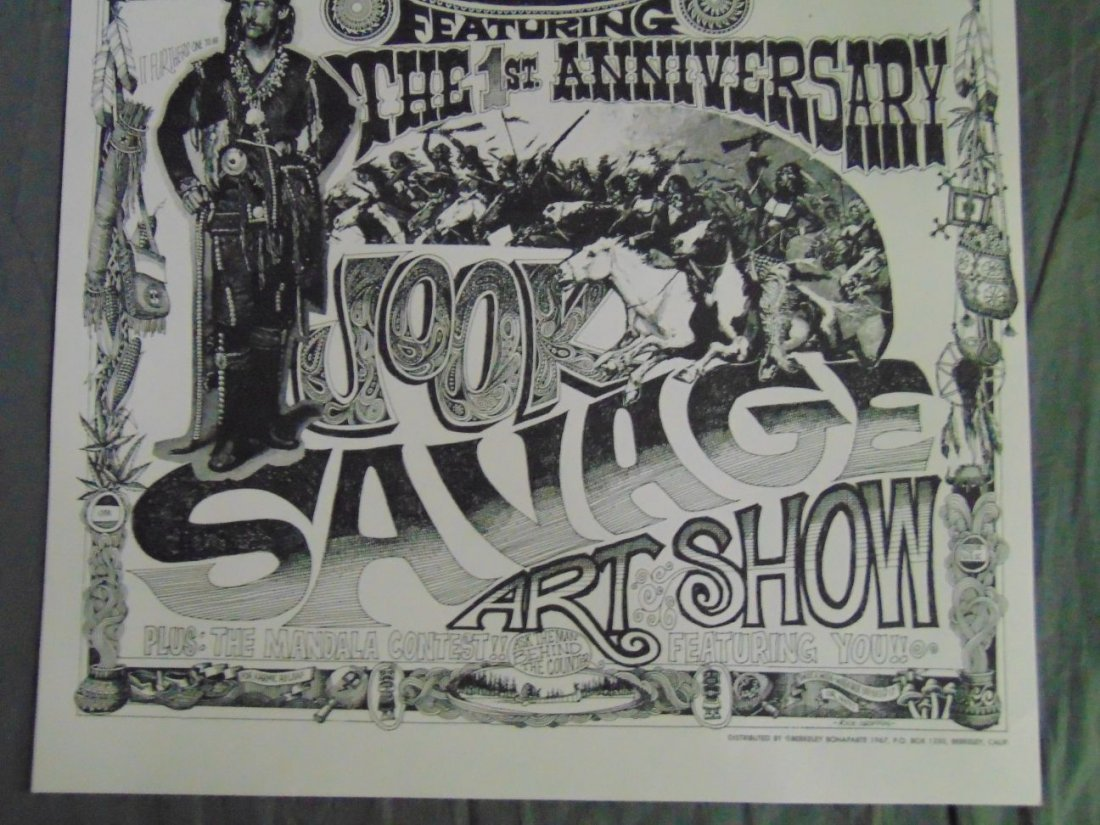 Rick Griffin 1967 Psychedelic Shop Art Show Poster - 3