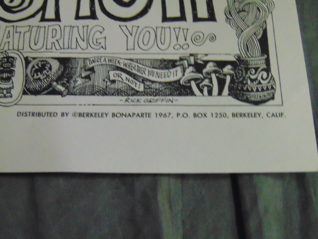 Rick Griffin 1967 Psychedelic Shop Art Show Poster - 4