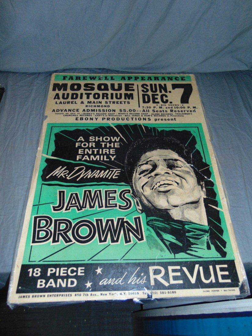 James Brown 1968 Cardboard Concert Poster
