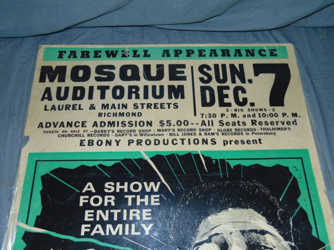 James Brown 1968 Cardboard Concert Poster - 3