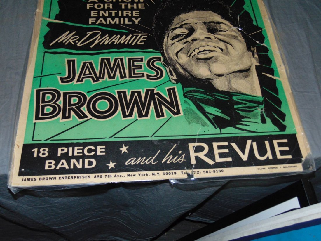James Brown 1968 Cardboard Concert Poster - 5