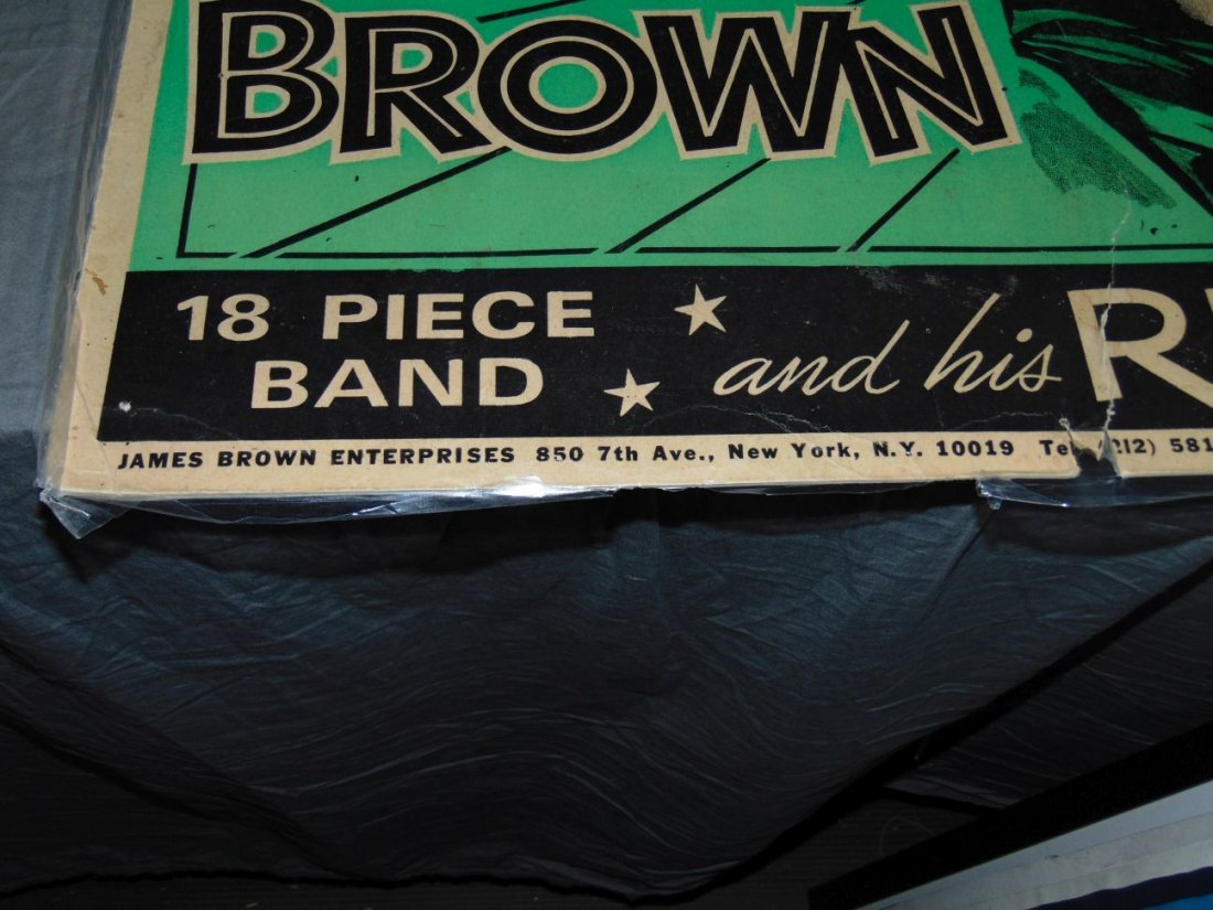 James Brown 1968 Cardboard Concert Poster - 7