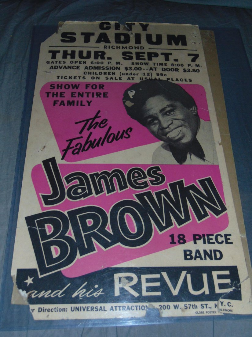James Brown 1967 Cardboard Concert Poster