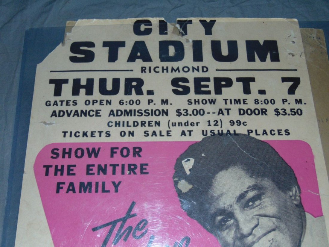 James Brown 1967 Cardboard Concert Poster - 2