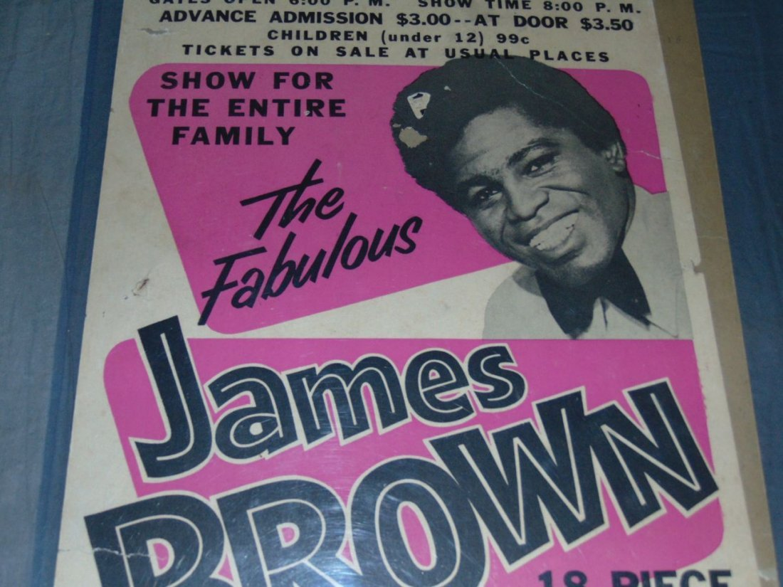 James Brown 1967 Cardboard Concert Poster - 3