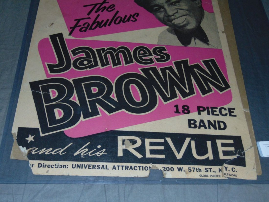 James Brown 1967 Cardboard Concert Poster - 4
