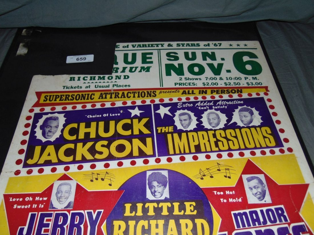 1967 R&B Show Cardboard Concert Poster - 2