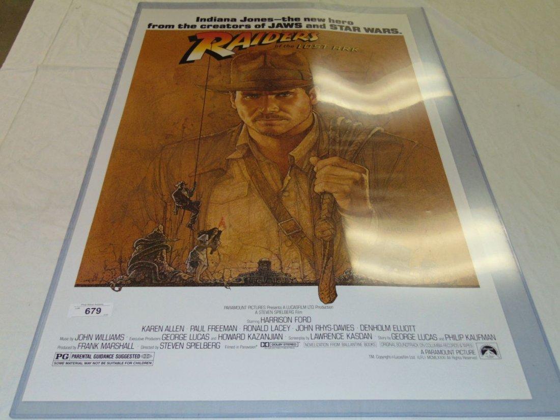 Indiana Jones 1 Sheet 1981 Movie Poster