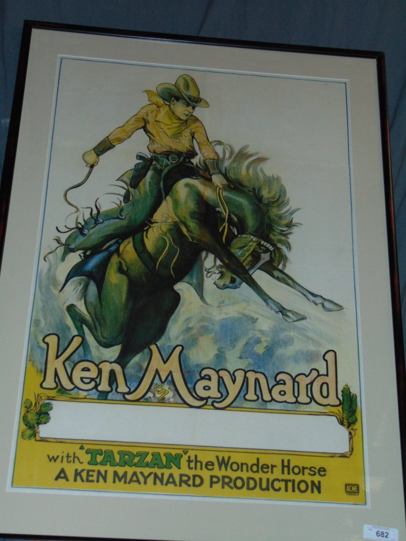 1930s Ken Maynard 1 Sheet Movie Poster