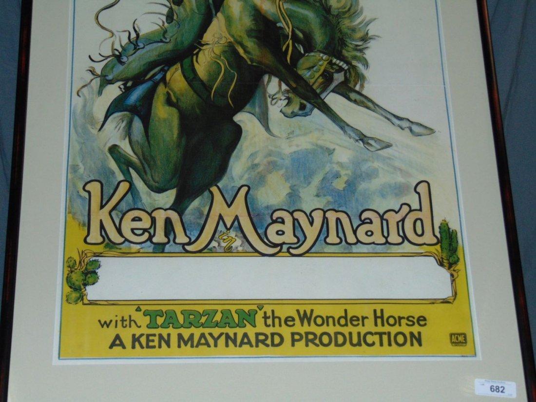 1930s Ken Maynard 1 Sheet Movie Poster - 3