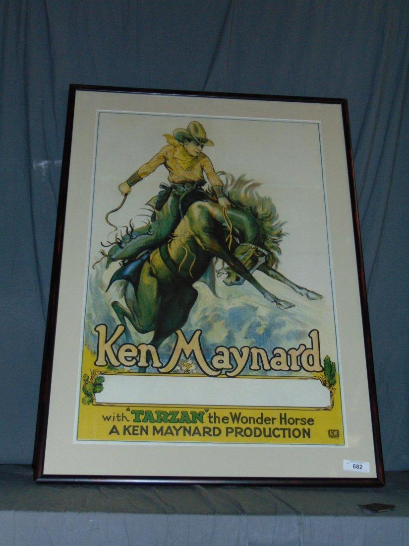 1930s Ken Maynard 1 Sheet Movie Poster - 5