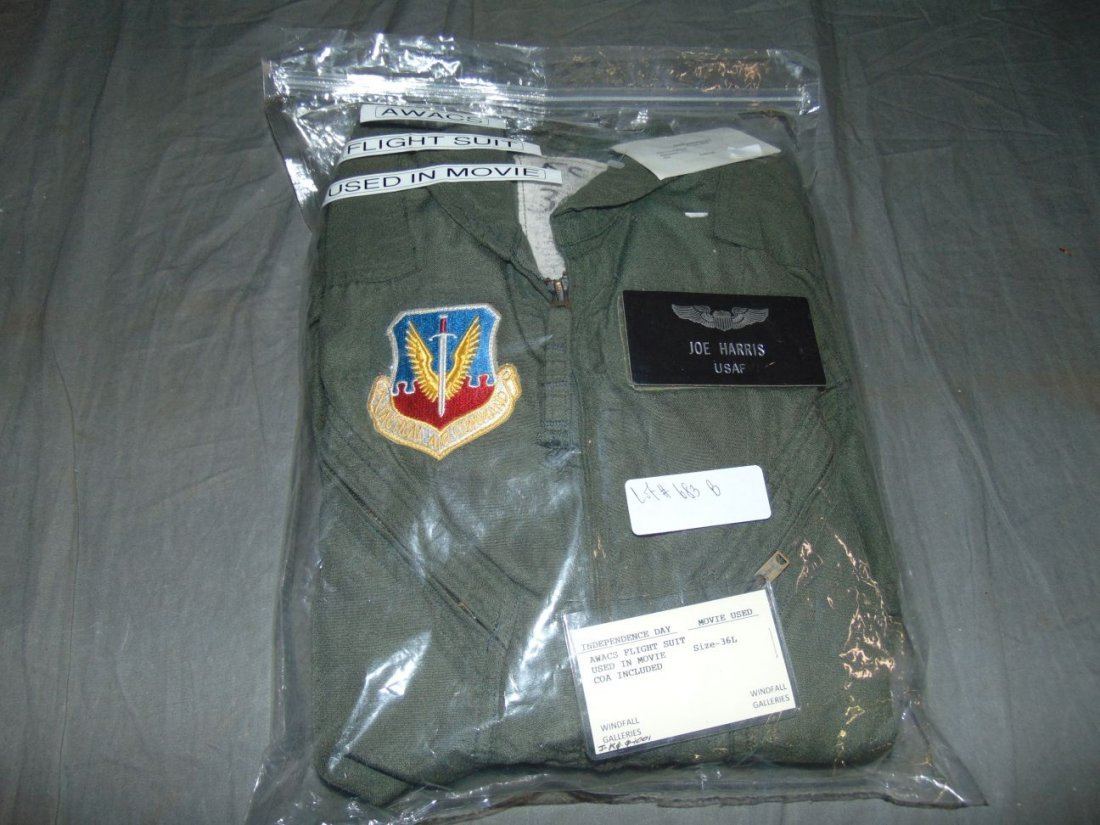 Independence Day Film Worn AWACS Flight Suit