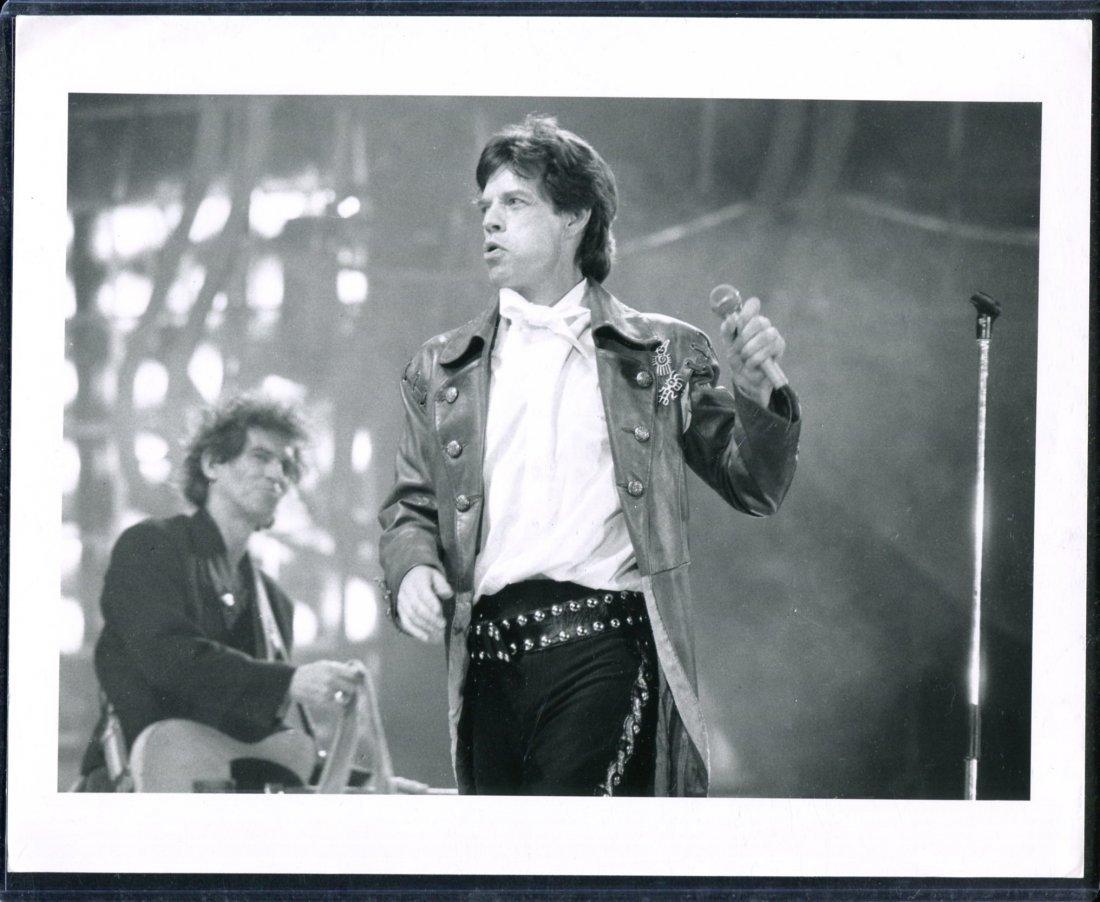 Mick Jagger on Stage Photo, Veterans Stadium 1989
