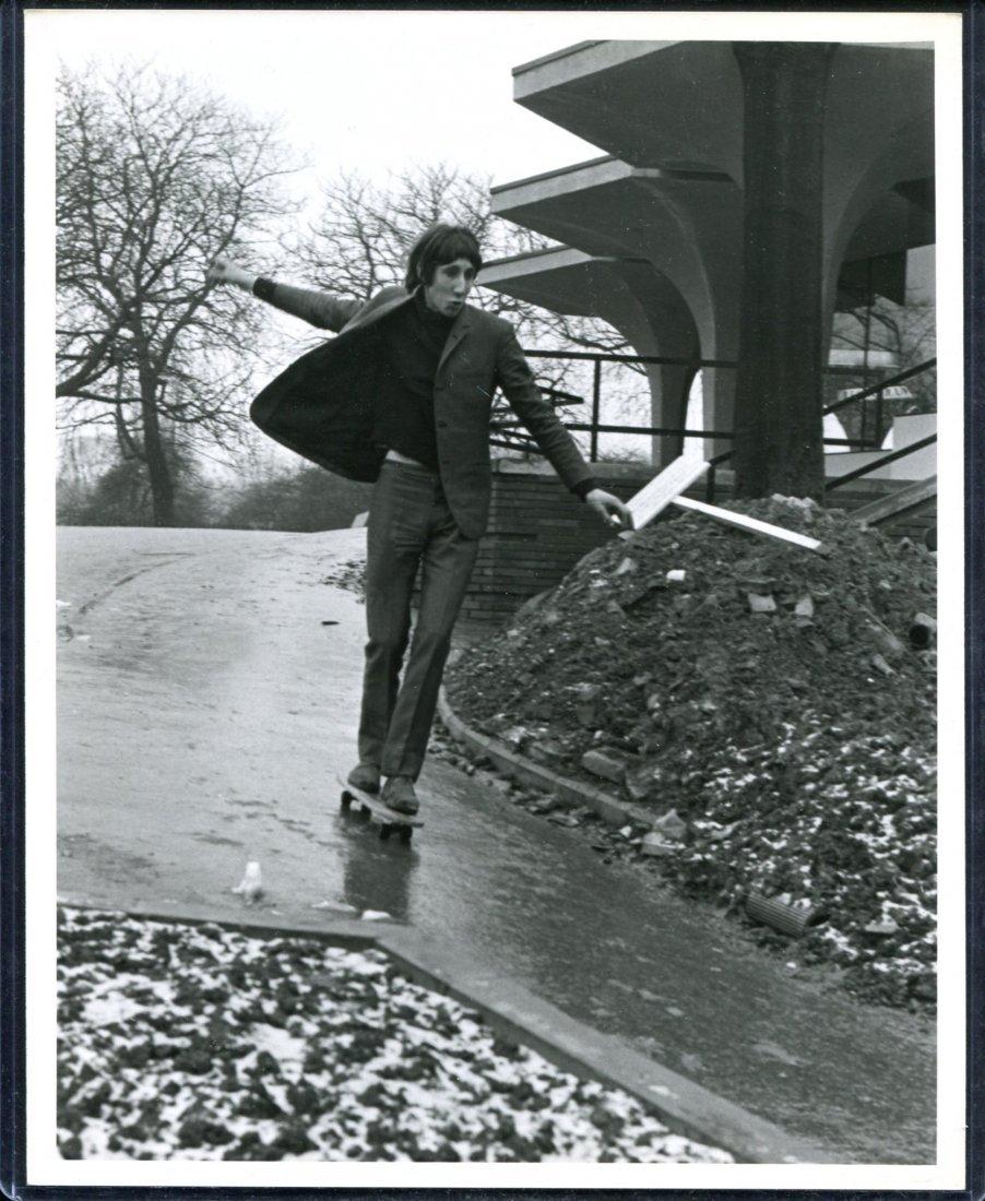 The Who Pete Townshend on Skateboard Photo