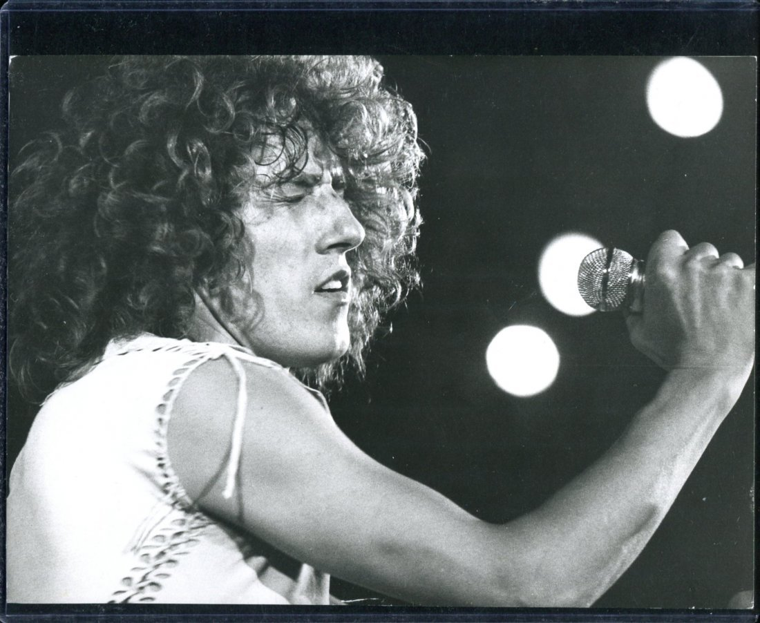 The Who Roger Daltrey with Mic Photo