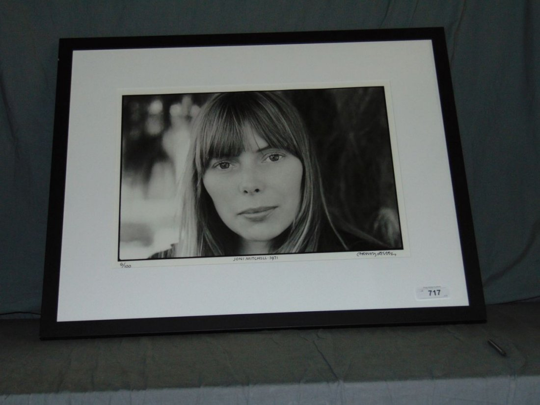 Joni Mitchell Limited Edition Photo by Henry Diltz - 2