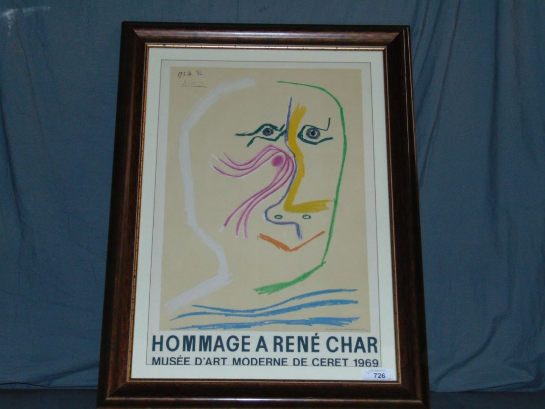 Pablo Picasso, Hommage Rene Char Lithograph - 4
