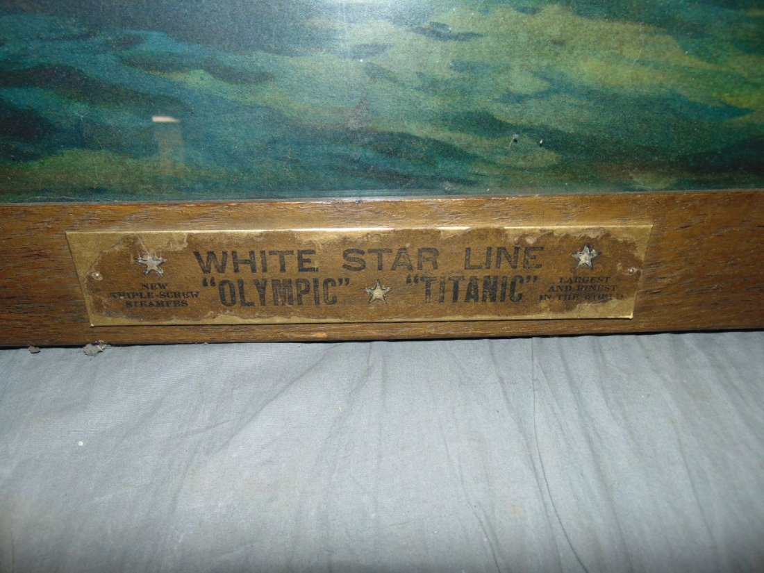 White Star Line Olympic, Color Lithograph. Titanic - 5
