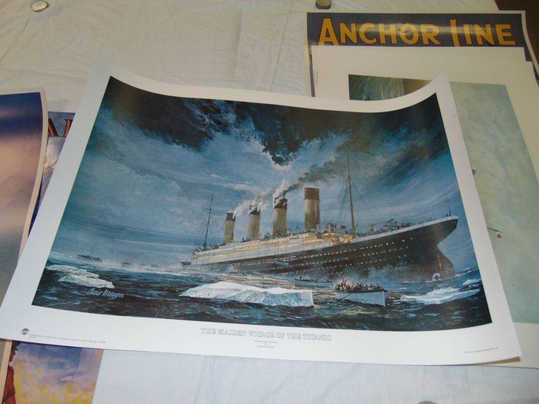 Ocean Liner Prints and Poster Lot
