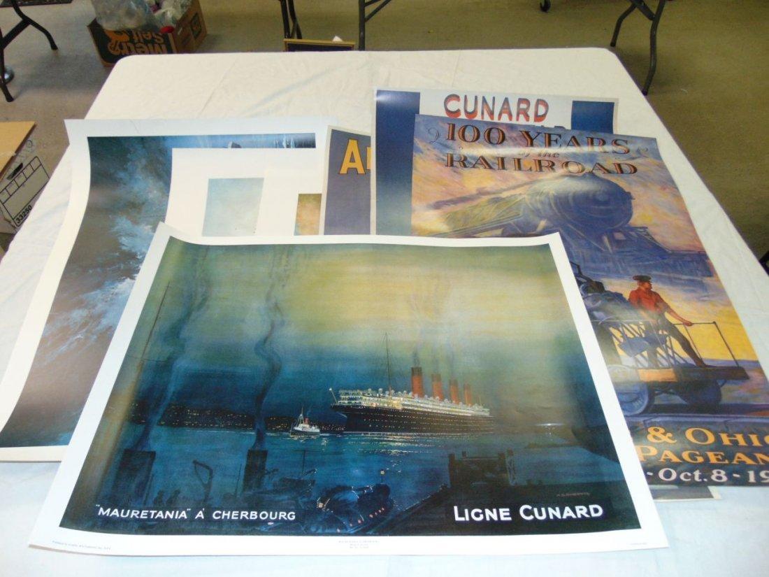 Ocean Liner Prints and Poster Lot - 2