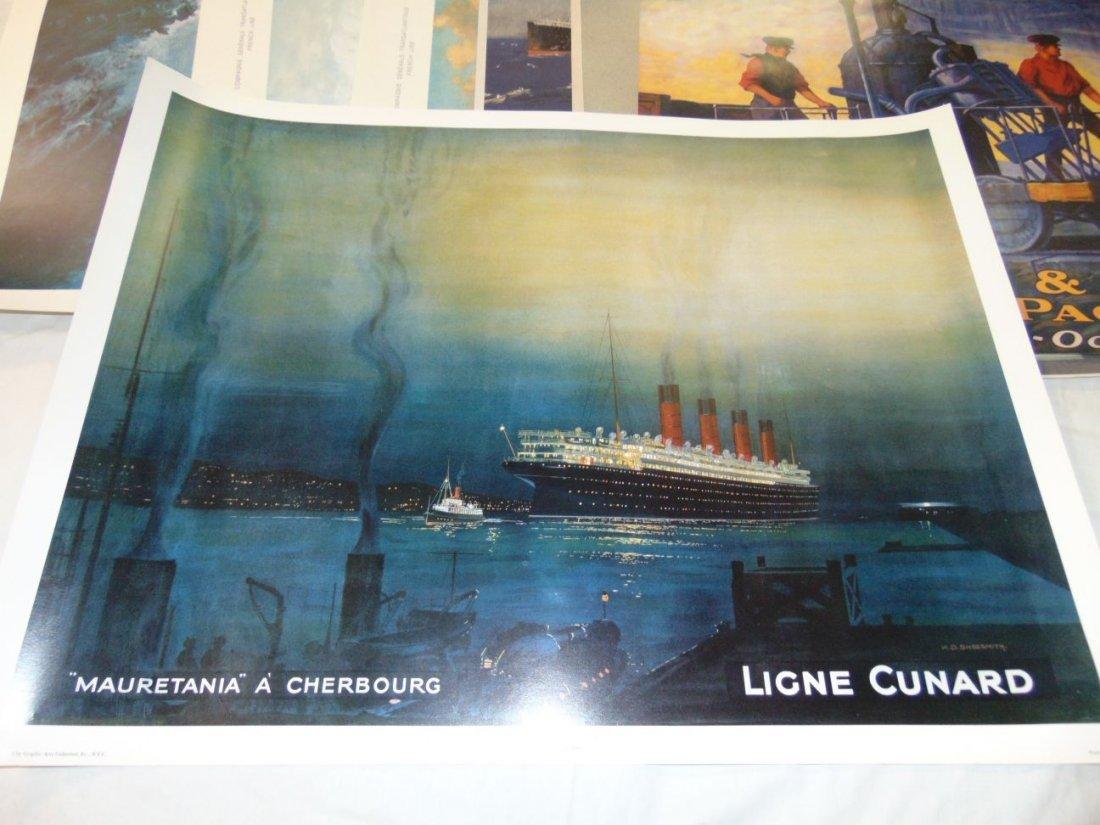 Ocean Liner Prints and Poster Lot - 4