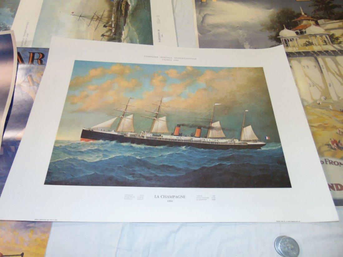 Ocean Liner Prints and Poster Lot - 8
