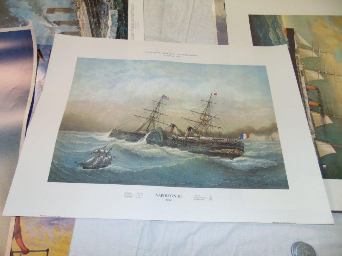 Ocean Liner Prints and Poster Lot - 9