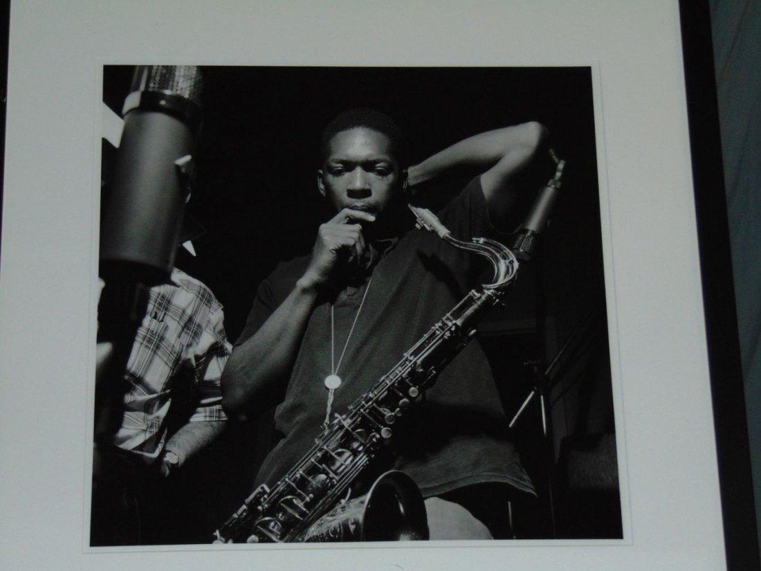 John Coltrane Black and White Photo