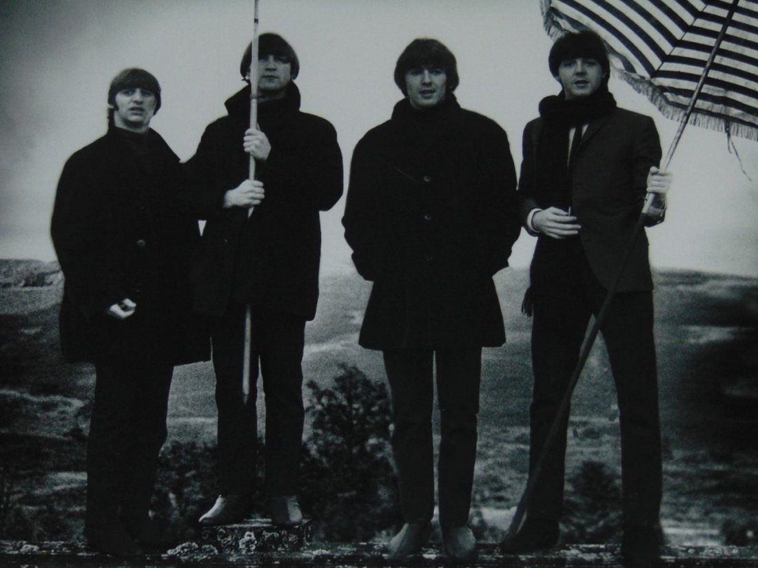 The Beatles Black and White Photo - 2