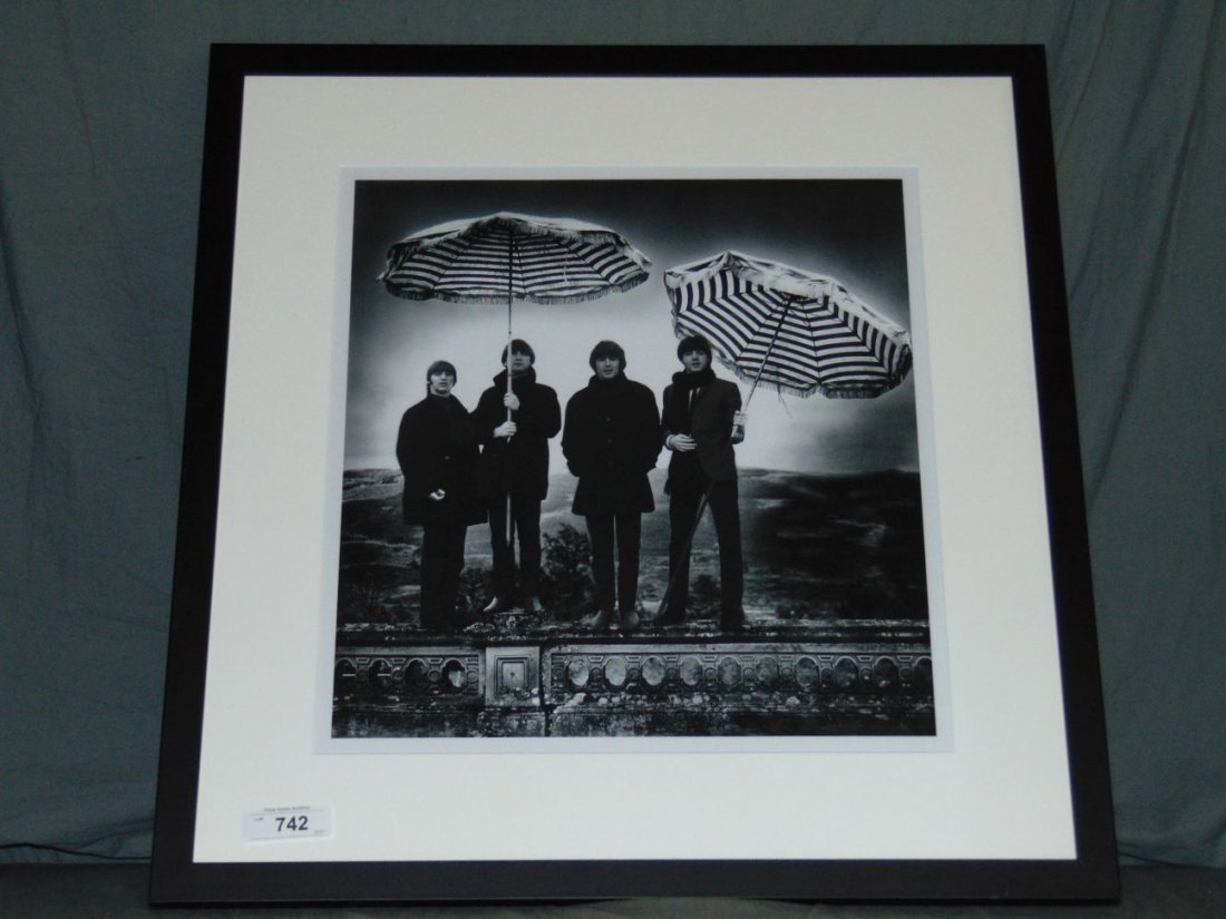 The Beatles Black and White Photo - 3