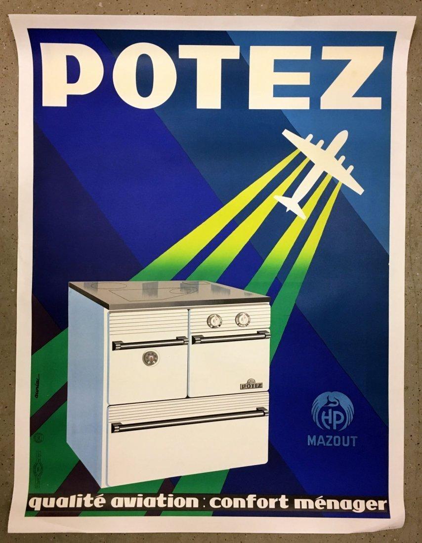 Vintage Potez Aviation French Advertising Poster