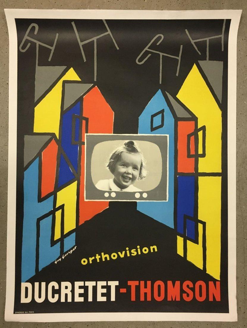 Vintage Ducretet Thomson Orthovision Poster