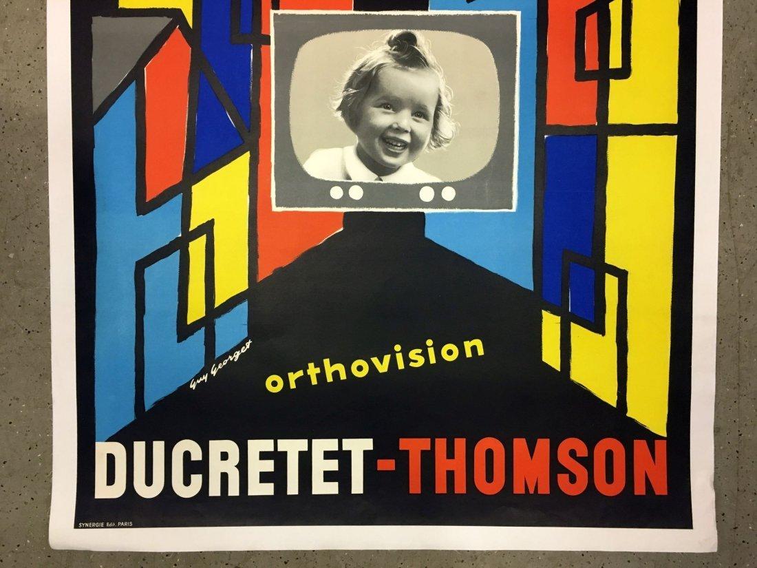 Vintage Ducretet Thomson Orthovision Poster - 3
