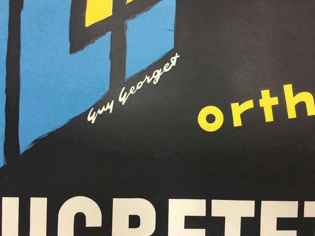 Vintage Ducretet Thomson Orthovision Poster - 4
