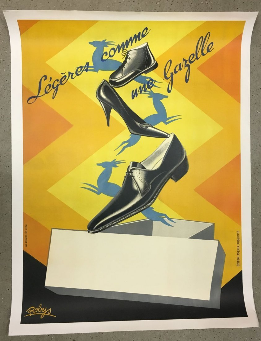 Vintage French Shoe Advertising Poster