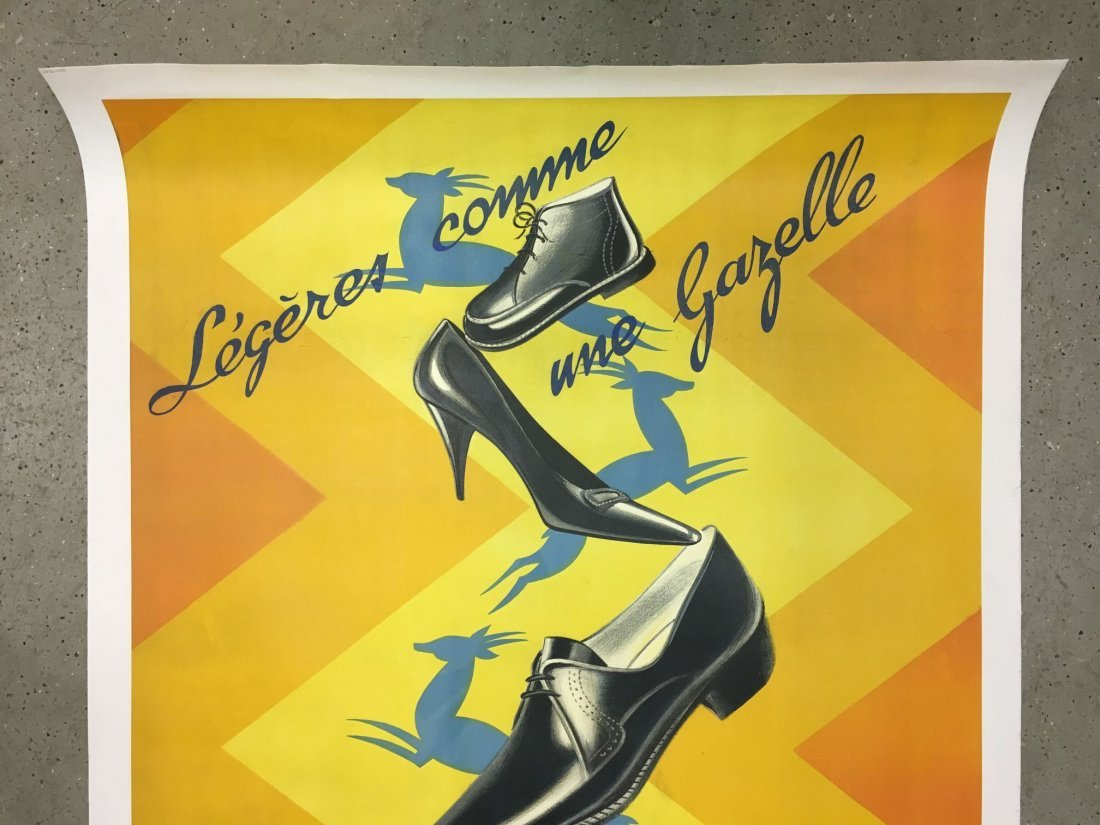 Vintage French Shoe Advertising Poster - 2