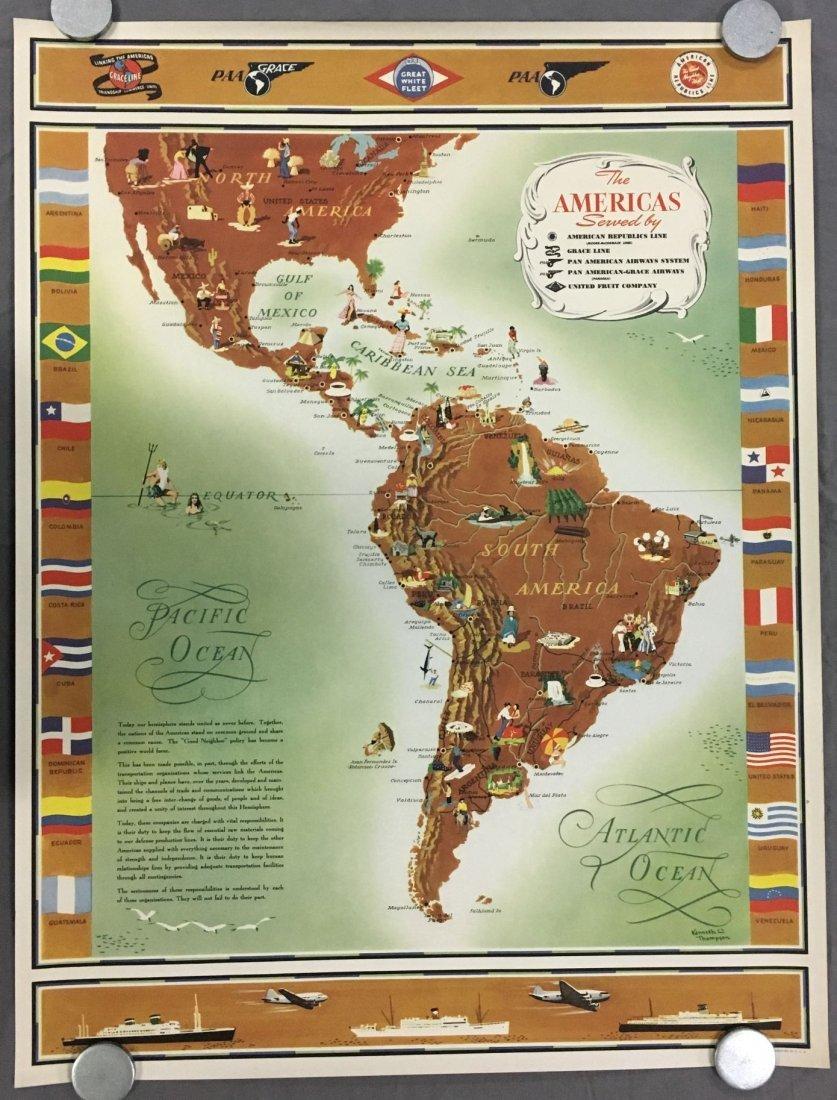 Pan Am American Republic Lines Travel Poster