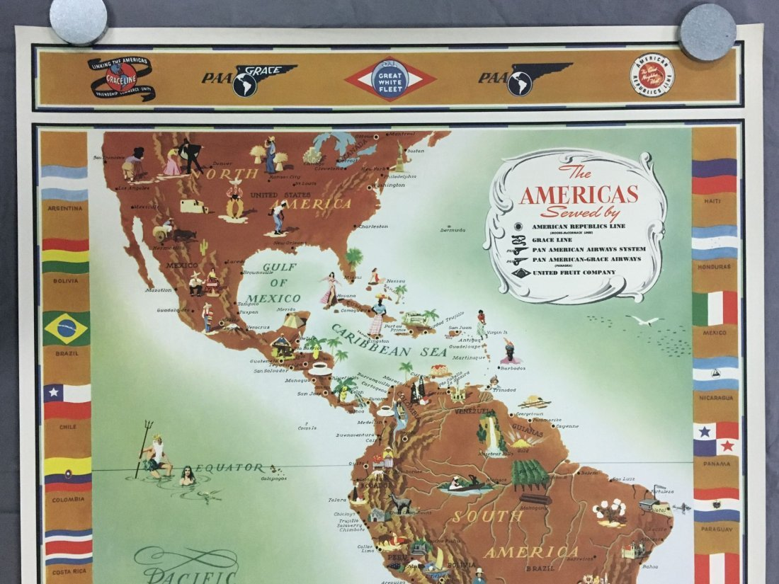 Pan Am American Republic Lines Travel Poster - 2
