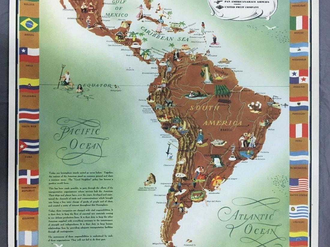 Pan Am American Republic Lines Travel Poster - 3