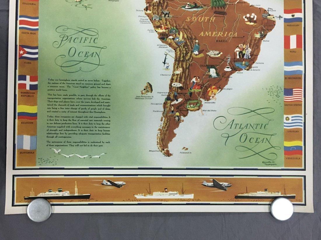Pan Am American Republic Lines Travel Poster - 4