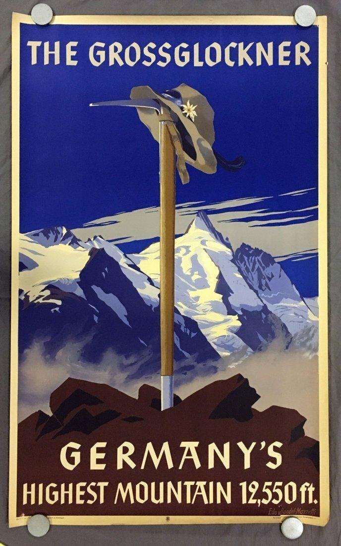 The Glossglockner, Germany Travel Poster, 1930's