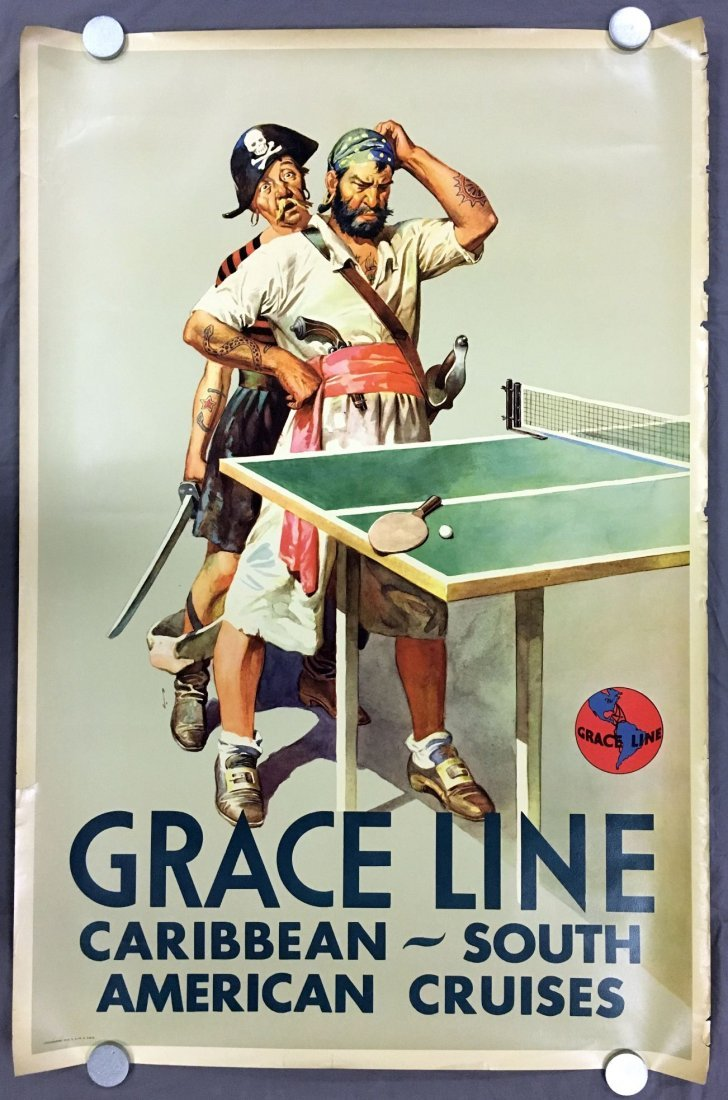(3) Gracie Line Cruises Travel Posters - 2