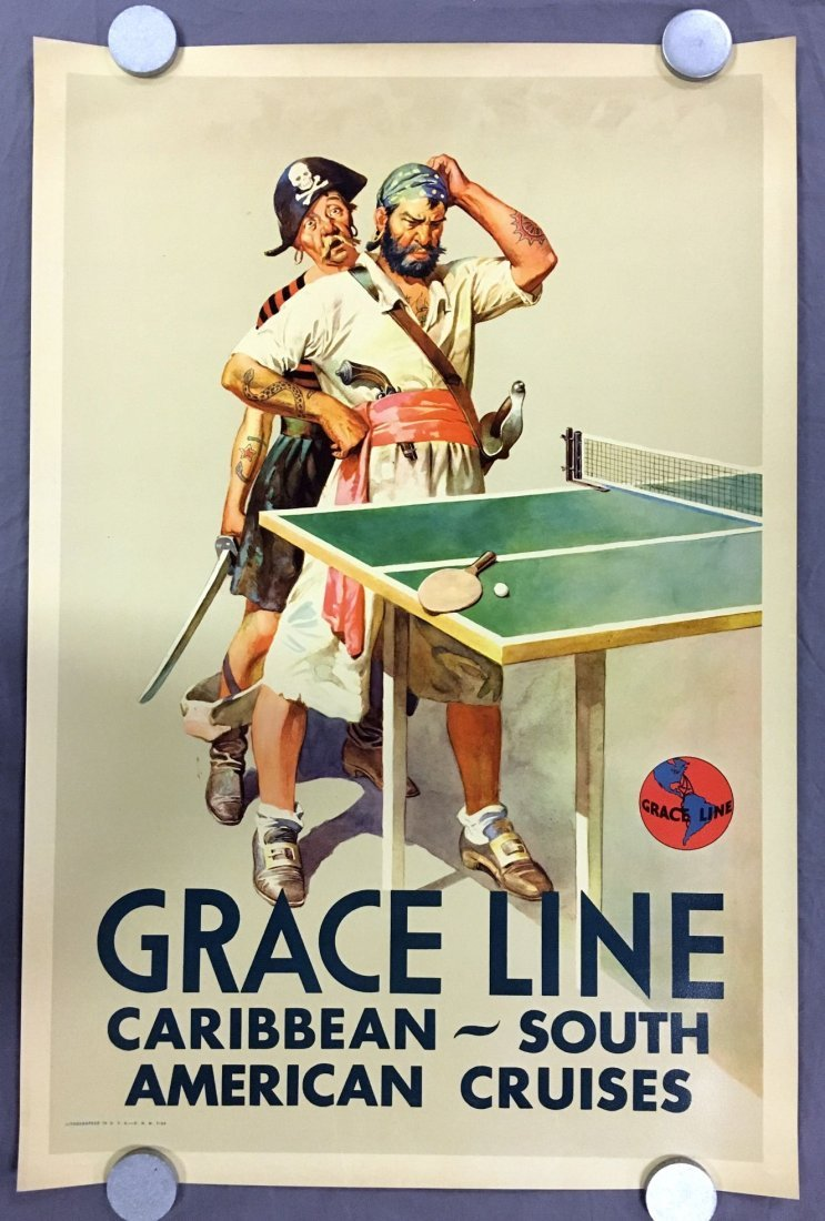 (3) Gracie Line Cruises Travel Posters - 3