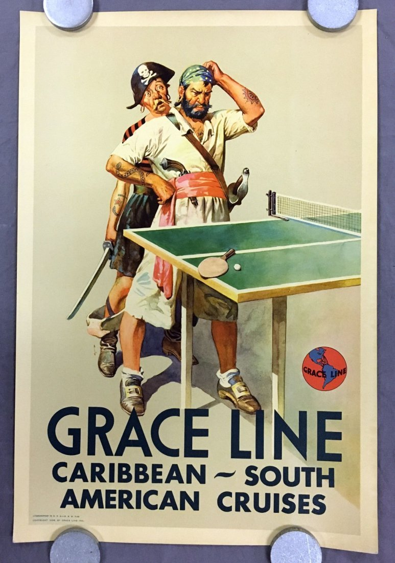 (3) Gracie Line Cruises Travel Posters - 4