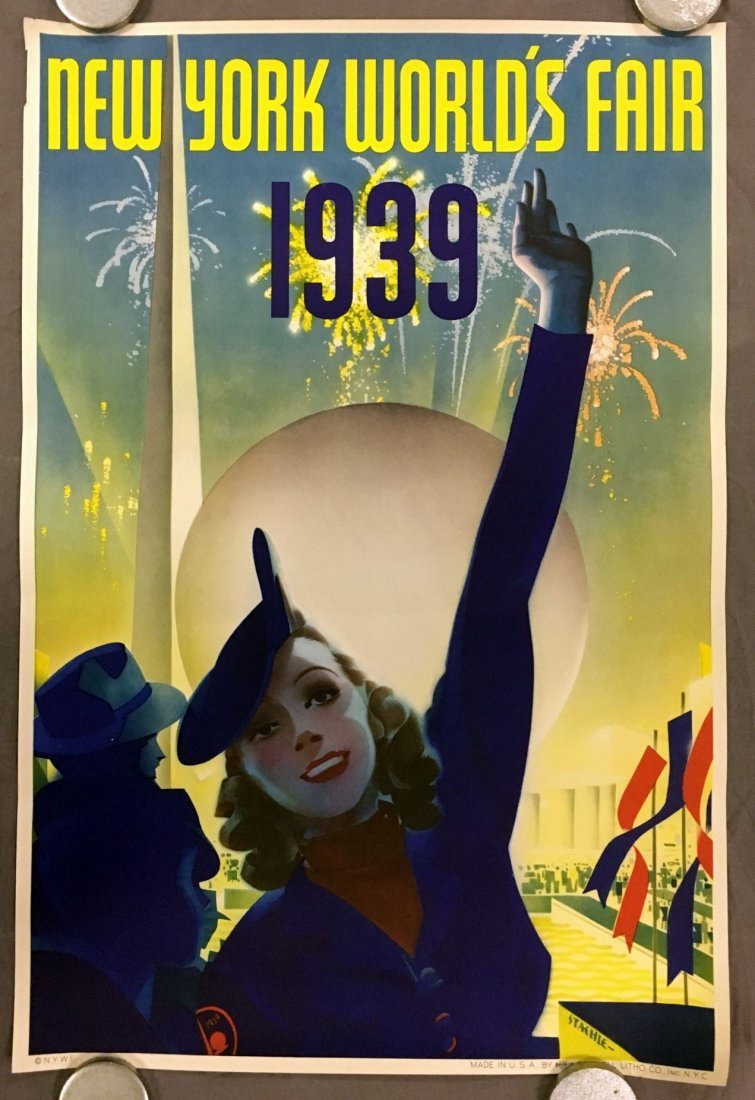 1939 NY World's Fair Poster, Albert Staehle