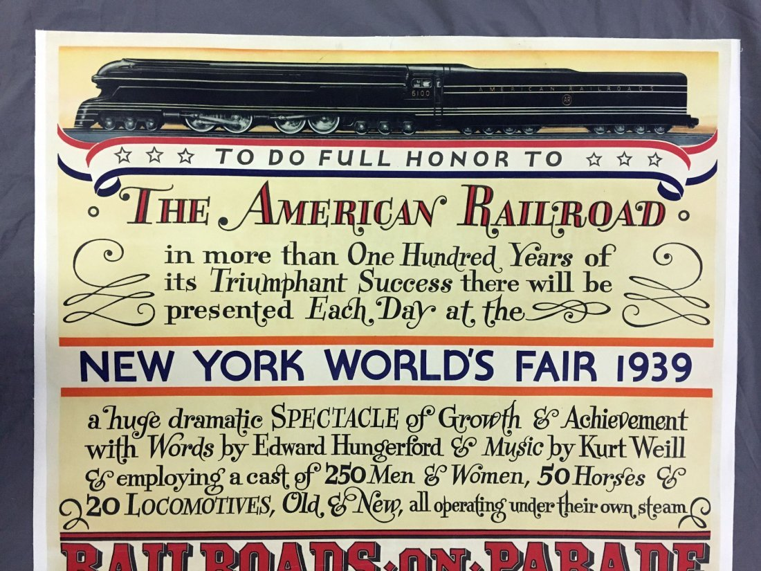 1939 NY World's Fair American Railroad Poster - 2