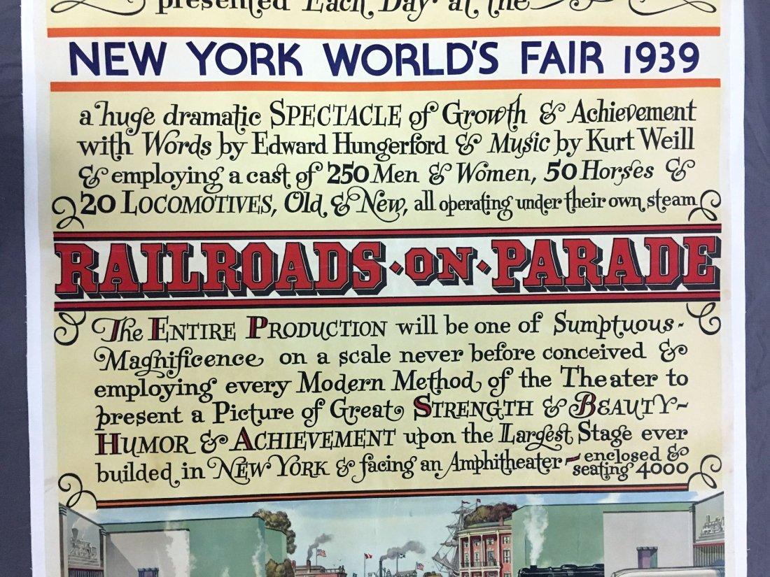 1939 NY World's Fair American Railroad Poster - 3