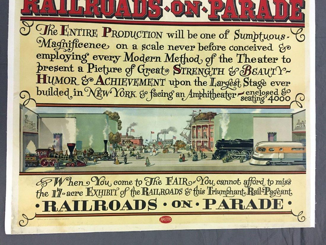 1939 NY World's Fair American Railroad Poster - 4