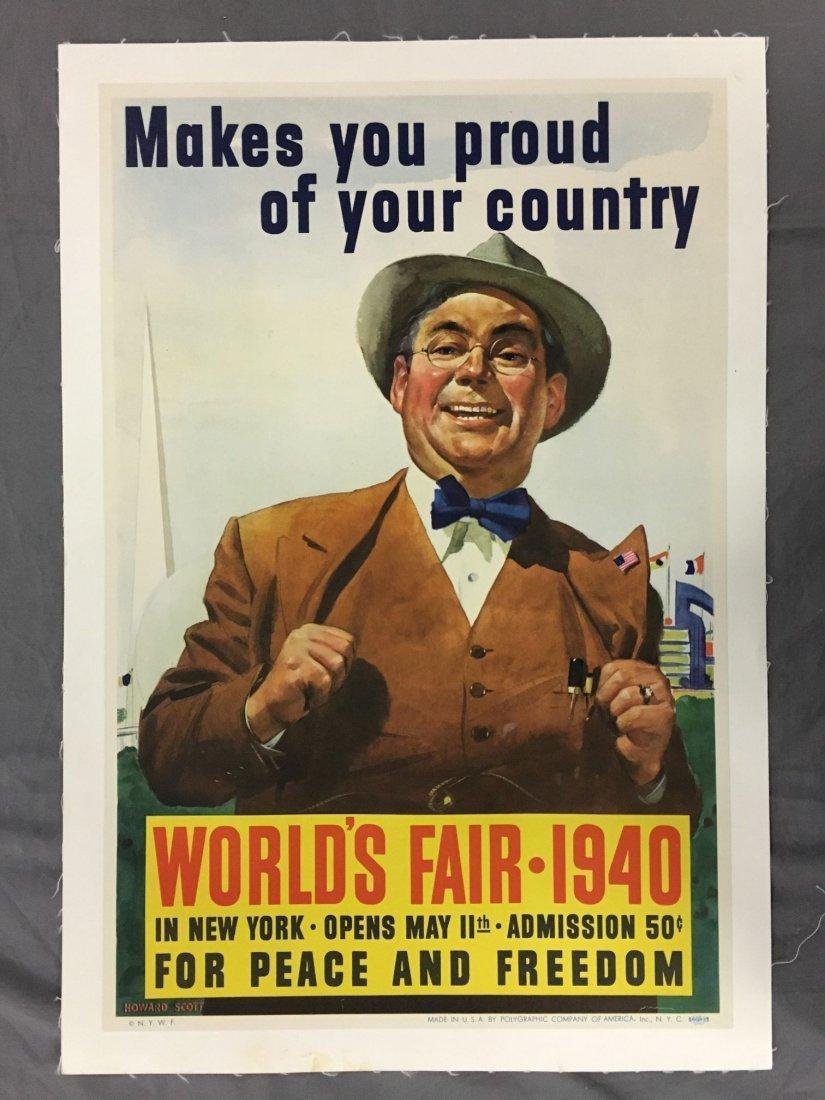 1940 New York World's Fair Poster, Howard Scott