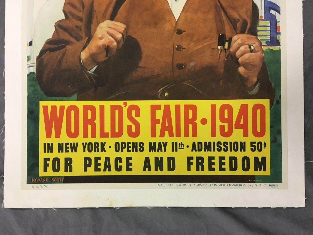 1940 New York World's Fair Poster, Howard Scott - 4